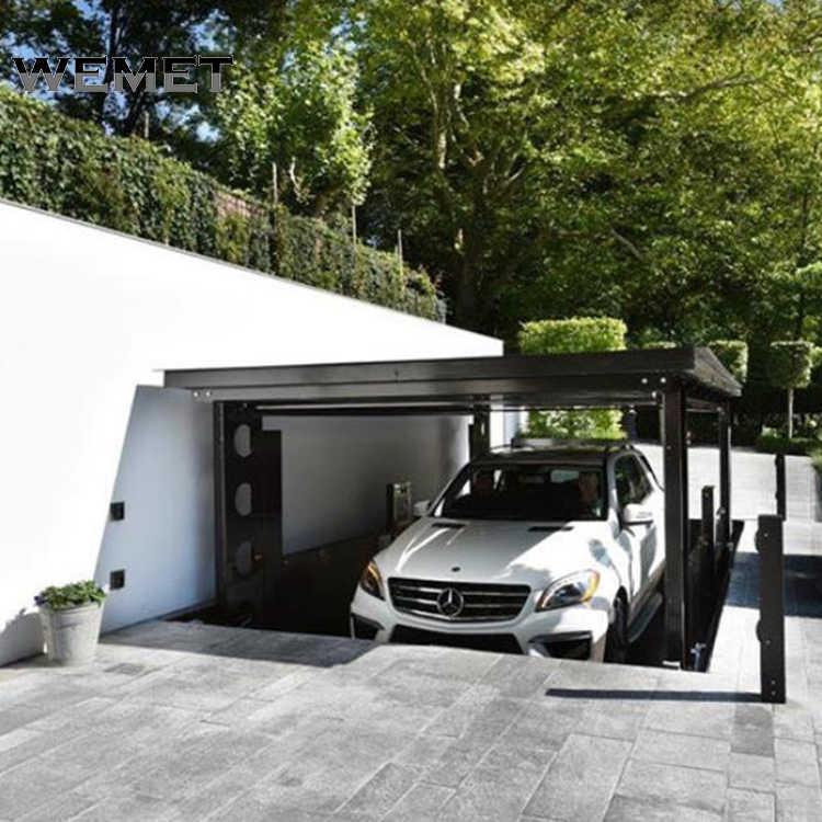 2 Niveau Parking Lift Draagbare Auto Liften Voor Thuis Garage Ondergrondse Garage Lift