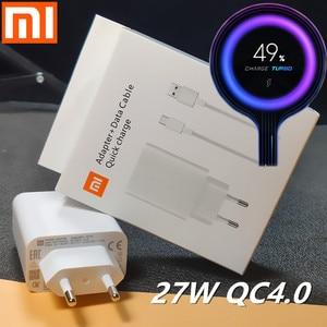 Xiaomi Charger 27W Original mi Fast Charger EU QC 4.0 turbo adapter Type C For mi 9 pro se 9t CC9 redmi note 7 8 pro K20 pad 4(China)