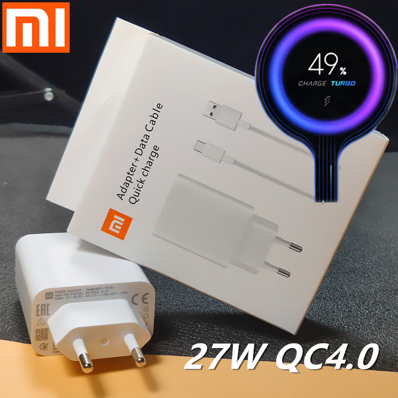 Xiaomi <font><b>Charger</b></font> <font><b>27W</b></font> Original <font><b>mi</b></font> Fast <font><b>Charger</b></font> EU QC 4.0 turbo adapter Type C For <font><b>mi</b></font> 9 pro se 9t CC9 redmi note 7 8 pro K20 pad 4 image