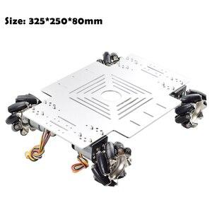 Image 5 - 20KG Big Load 4WD All Metal Mecanum Wheel Robot Car Chassis Kit Platform with DC 12V Encoder Motor for Arduino DIY Project