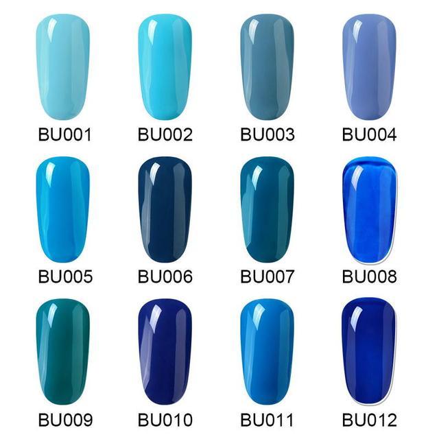 Elite99 Blau Serie Gel Nagellack UV LED Semi- Permanent Element Matte Top Mantel Keine Wischen Top Basis Mantel nail art Maniküre 7ML