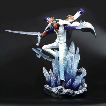 Anime One Piece Kuzan Battle Ver. GK Statue PVC Action Figure Collectible Model Kids One Piece Toys Doll Gift 34cm