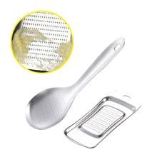 Alho mash gengibre imprensa aço inoxidável ferramenta de cozinha moinhos de gengibre moedor de alho barbeador ferramenta de legumes de grau alimentício 1 pc