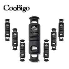 Stopper Rope Cord-Lock Toggle-Clip Paracord-Accessories Plastic Black for Hat DIY Garment