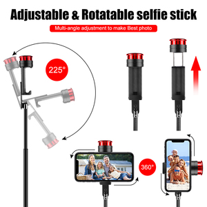 Image 4 - Cafele Wireless Bluetooth Selfie Stick For Huawei iPhone Xiaomi Extendable Foldable Monopod For Phone Camera Remote Control