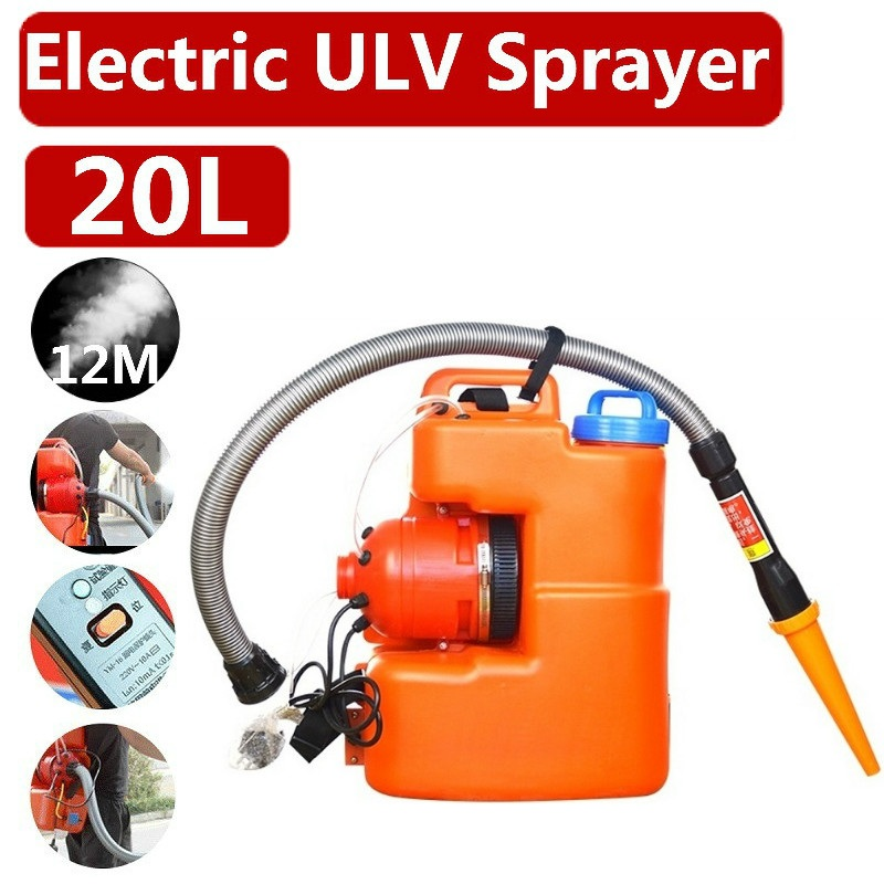 220V 20L 2600W Handheld Electric Large Area Disinfection Fogger Machine ULV Sterilization Sprayer Fogging Nebulizer