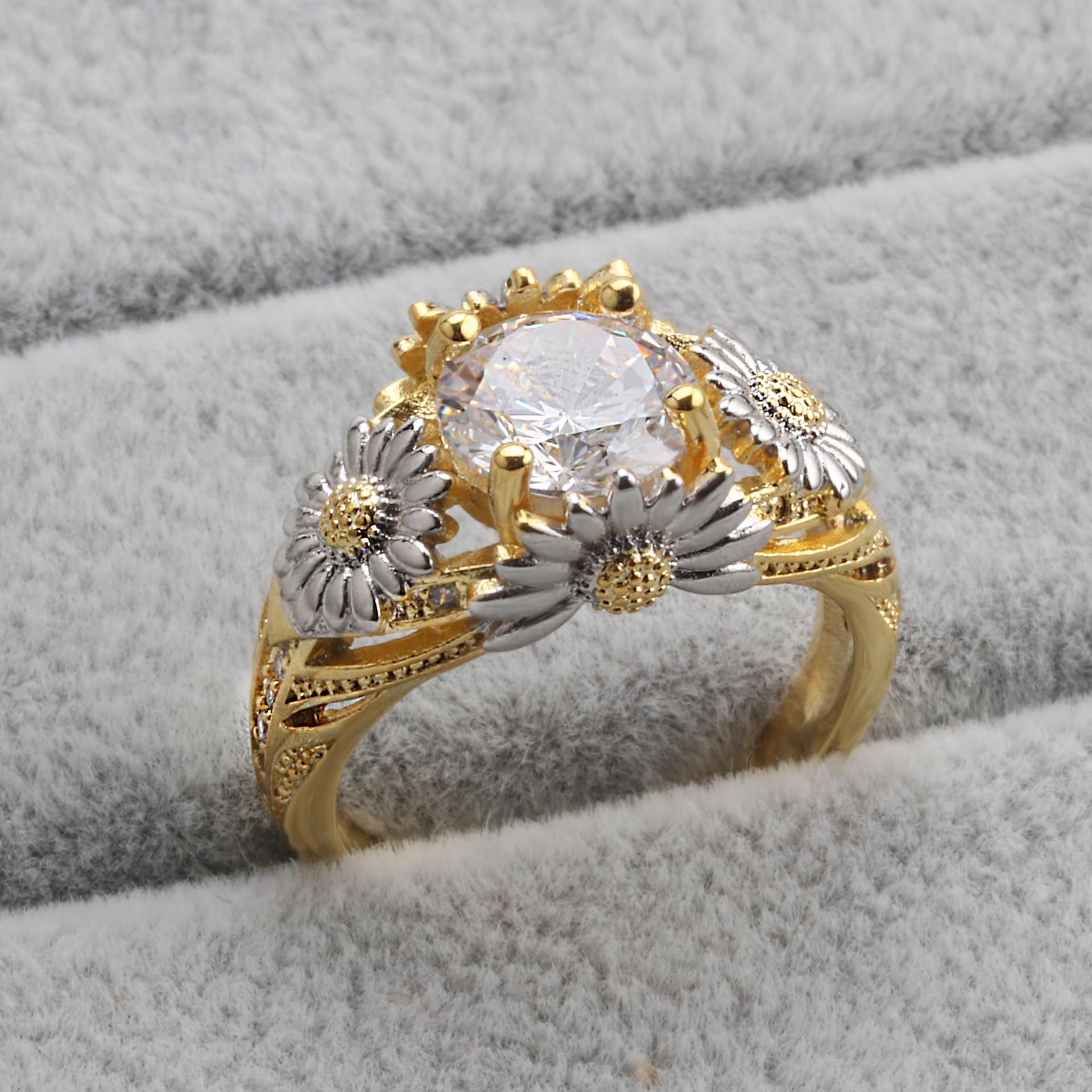 14K Gold VVS1 Diamond Ring For Women Bizuteria 2 Carats Topaz Gemstone Anillos De Wedding Jewelry 14K Gold Diamond Dainty Ring