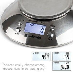 Image 5 - ميزان مطبخ رقمي عالي الدقة 11lb/5 كجم ميزان المطبخ مع وعاء قابل للإزالة درجة حرارة الغرفة ، جهاز إنذار الموقت الفولاذ المقاوم للصدأ الميزان