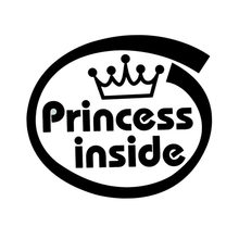 Cute Princess Inside Car Body Styling Sticker Removable Waterproof Car Sticker Truck Lighting Car Styling Exterior Accessories(China)