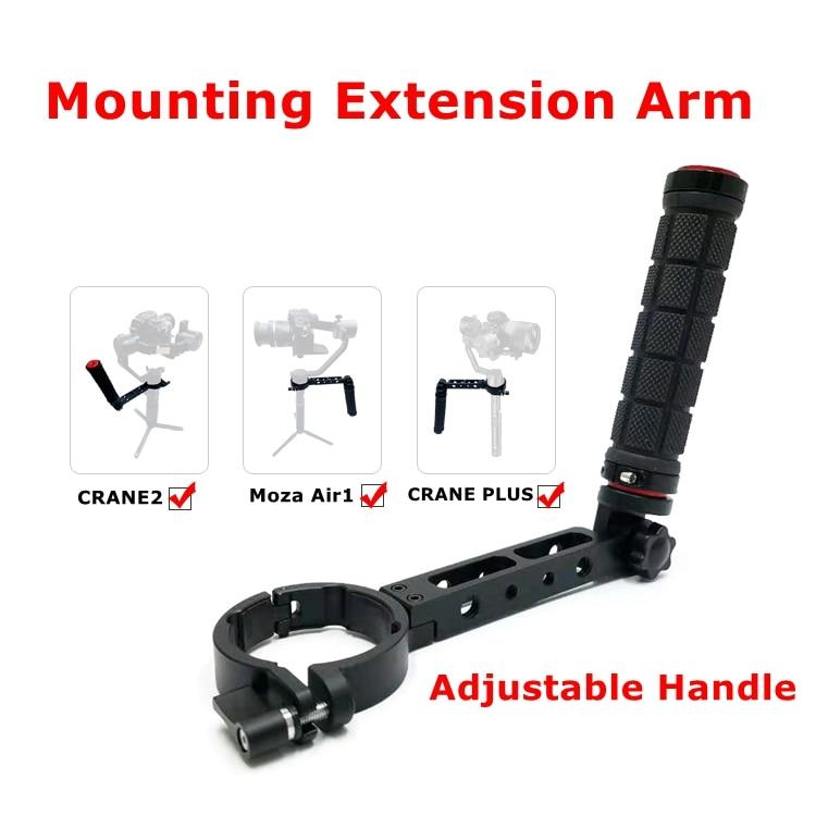 T1-Pro poignée inversée réglable de montage bras d'extension moniteur Microphone pour Crane2 Moza Air 1 grue Plus accessoires de cardan