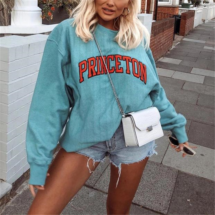 Harajuku Letter Print Hoodie Women Spring 2020 Loose Casual All-match Long Sleeve Pullover Tops Clothes Streetwear Sweatshirt