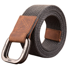 High Quality Fashionable Elastic Canvas Belts for Men Knitted Buckle Adjustable Belt Male Jeans Tactical New