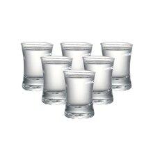 Набор из 6 тяжелой базы машина сделал очки для spirit drinks водка baijiu Рождественский подарок 40 мл