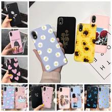 Custodia per Huawei Y5 2019 2018 Y5P custodia morbida colorata girasole opaco silicone sottile Cover per Huawei Y5 2017 MYA-L22 custodia per telefono Capa