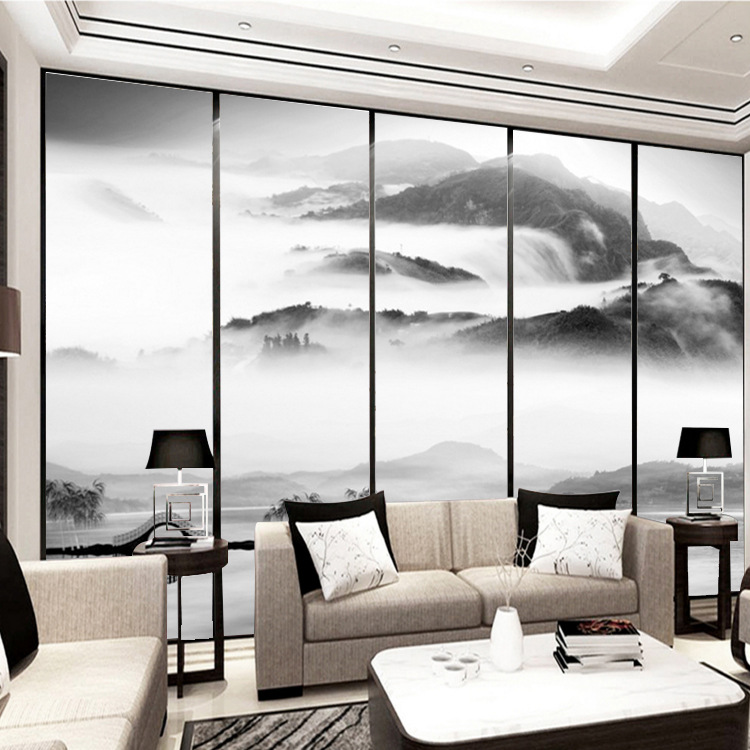 TV Background Wallpaper Ink Chinese-style Artistic Conception Landscape New Chinese Style Living Room Sofa Mural Film And Televi