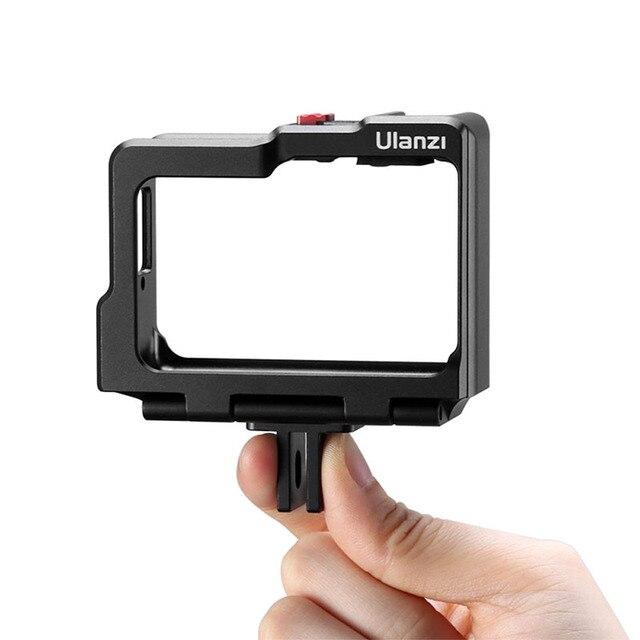 Ulanzi Insta360 One R Kim Loại Vlog Lồng Ốp Lưng Kéo Dài Giày Lạnh Cho Đèn LED Micro