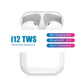 New i12 TWS Wireless Bluetooth 5.0 Sport Earphone Touch Pop-up Window With Charging Box Earpiece For IOS Android Phone
