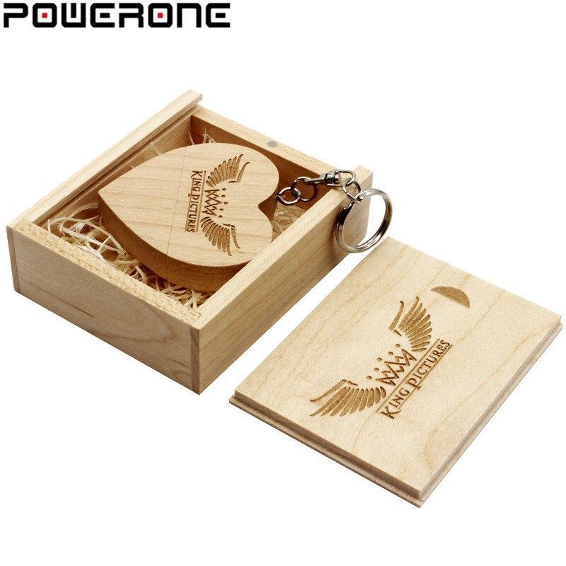 Pendrive POWERONE (1 Uds. Con LOGO personalizado gratis) de madera con corazón usb y caja USB de 64GB 32GB 16GB 8GB 4GB para regalos de boda Cargador USB rápido Ugreen de 36W, carga rápida 4,0 3,0 tipo C PD, carga rápida para iPhone 11, Cargador USB con QC 4,0 3,0, cargador de teléfono