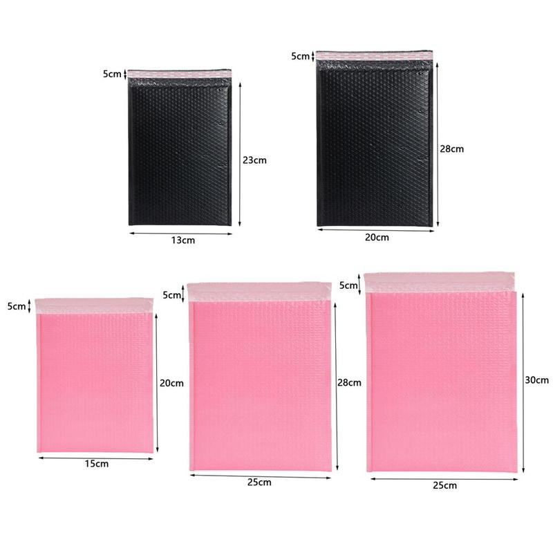 5size Pink Bubble Envelope Bag Poly Bubble Mailer Waterproof Envelopes Composite Bag Mailing Self Sealing Padded Shockproof L7F6