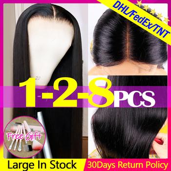 Jarin włosów hurtowych 1-2-4-8 sztuk peruwiańskie proste włosy zamknięcie koronki środkowa część ludzkich włosów Remy naturalny czarny kolor dla kobiet tanie i dobre opinie Jarin Hair Remy włosy Średnia wielkość Jasny brąz Ciemniejszy kolor tylko Swiss koronki Peruwiański włosów 4-7 Working Days