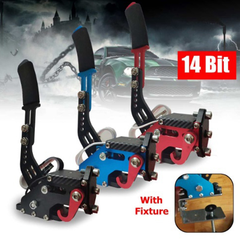 For PS4 USB Handbrake Racing Games For Clamp Logitech G295/G27/G29/G920 T300RS Brake System Handbrake With Fixture Replacement P