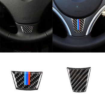 Steering Wheel Sticker for BMW 3 Series E90 E95 2005-2012 Auto Interior Decoration Emblem M Sport Frame Cover Car Accessories image