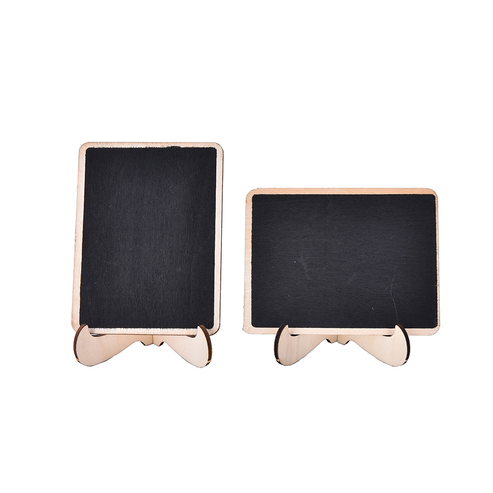Hot Sale Mini Wooden Message Blackboard Chalkboard with Stand Small Black Notice Board Wedding Home Office Decor Supplies