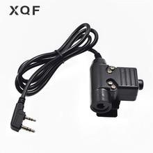 XQF U94 PTT Tactical Headset PTT Kabel für Walkie Talkie Kenwood Baofeng UV 5R GT 3TP UV B5 RT 5R BF 888S TYT MD 380 Ham Radio