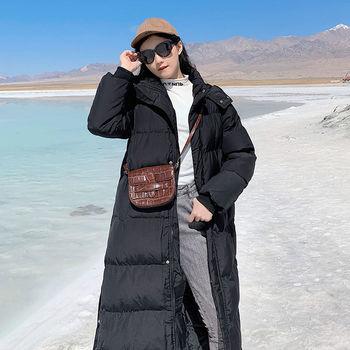 Women Coats and Parkas Autumn Winter Long X Long Parkas High Quality Beige Black with