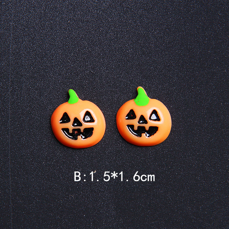 50pcs Mezcla Lotes Resina Flatback Halloween Artesan/ía Embellecimiento Slime Charm Mago Calabaza Linterna Fantasma Ara/ña Cr/áneo