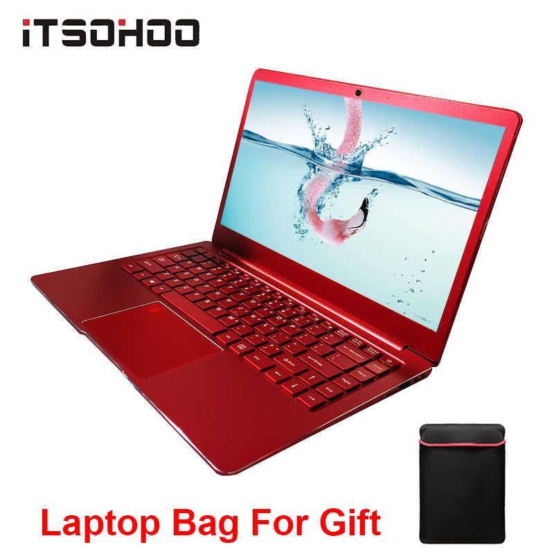 14 дюймов Windows 10 Ноутбук металлический ноутбук красный синий цвет 8 Гб RAM intel
