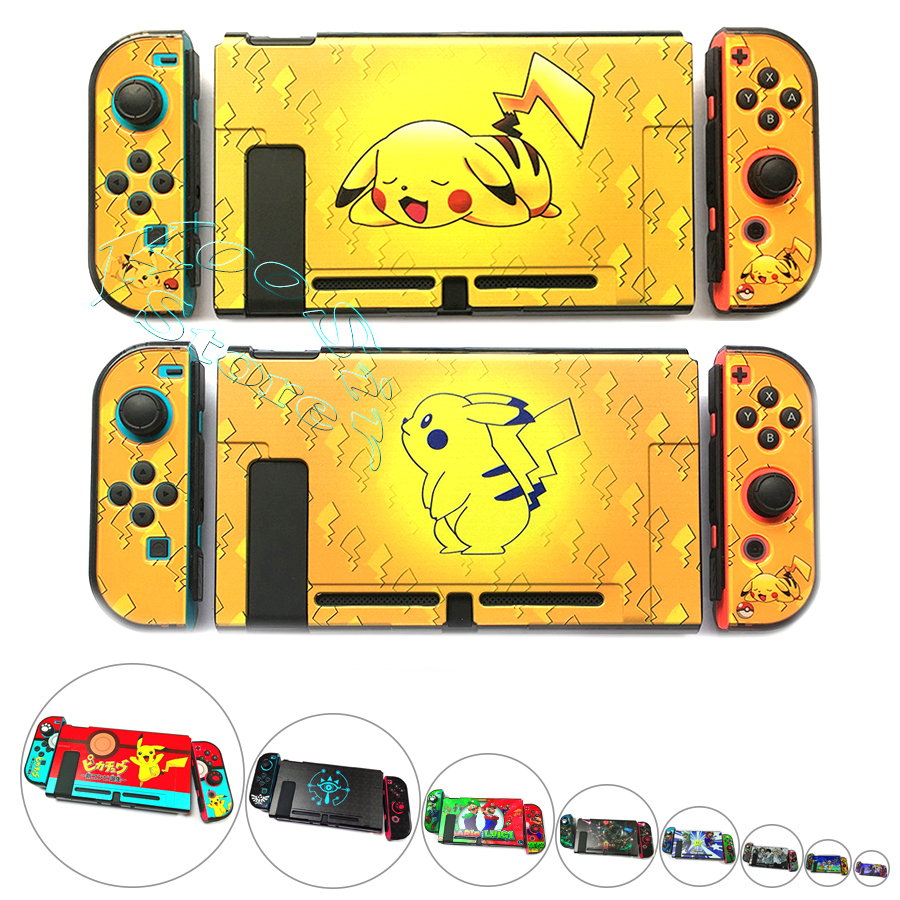 Nintendos Nintend Switch Protector Console Color Case Nitendo Switch Crystal Shell Cover For Nintendo Switch Pikachus Theme Skin