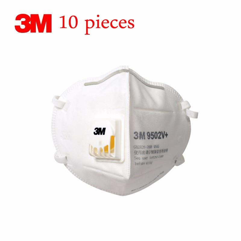 10pcs 3M KN95 Mask N95 Respirator Mask Valve Mascara Mascarillas Ffp2 Mondkapjes Masque Reusable N95 9502V+ Mascherine