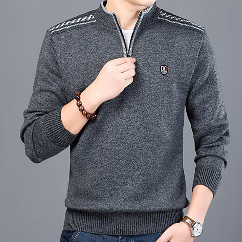 M-3XL Autumn Winter Men'S Sweater Men'S Turtleneck Solid Color Casual Sweater Men's Slim Fit Brand Knitted Pullovers T111605