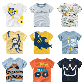 Children's T-Shirt Children for Boys  a Boy Girls Kids Kid's Shirts Child Baby Toddler Cotton Cartoon Tee Tops Clothing Short summer boys t shirt children tops clothing cotton dinosaur short sleeve t shirts kids boy white girls tee toddler 1 8years baby