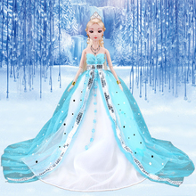 Fashion Doll 12 Inch Long Hair Clothes Princess Dolls For Girls Plastic Jointed Kids Diy Smart Girl Birthday Toy Gift