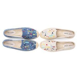 Image 3 - 2020 Denim Echte Nieuwe Schoenen 2019 Espadrilles Sapatos Zapatillas Mujer Platform Dame Slippers Voor Lente Flats Schoenen Mode