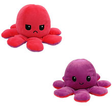 Duplo-face flip octopus brinquedo de pelúcia bonito animal boneca de pelúcia chirdren crianças presente de aniversário brinquedos enchidos de pelúcia criança octopos brinquedo