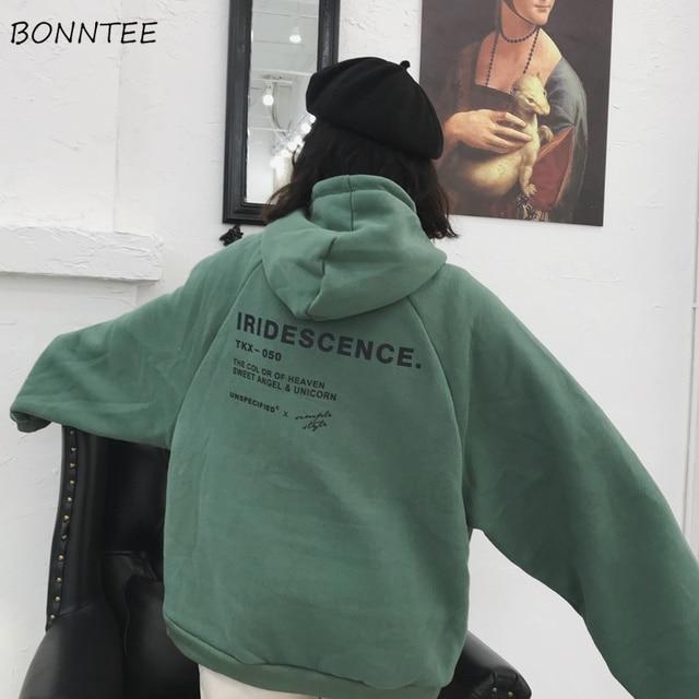 Толстовка женская с капюшоном и длинным рукавом 2