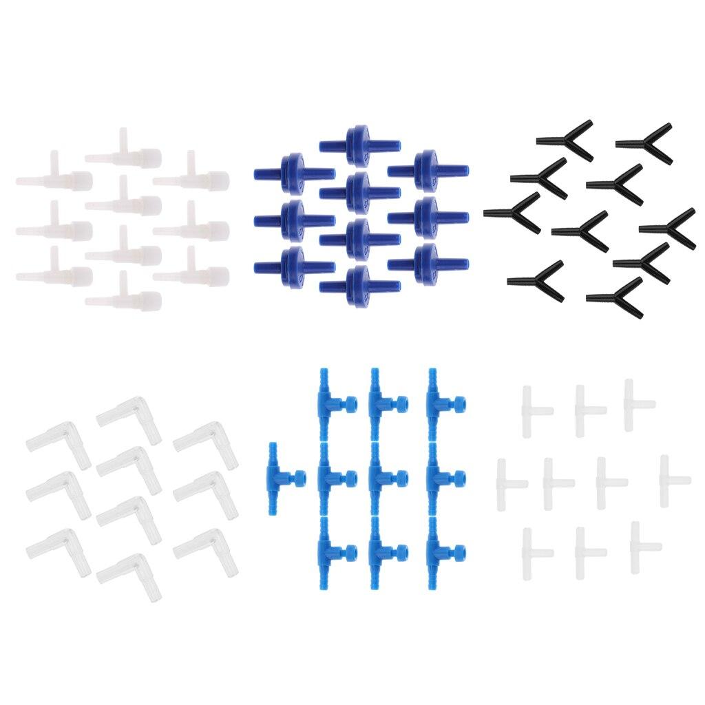 10 шт., фитинги для воздушного насоса Aqua, соединитель воздушного клапана, обратный шланг, воздушный шланг, детали воздушного насоса для аквар...