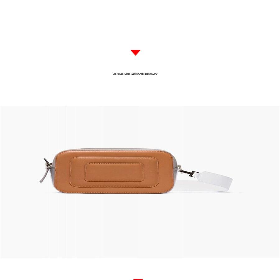 Nouveau 2019 style design double fermeture éclair large bandoulière sac photo correspondant couleur diagonale croix petit carré femmes sac