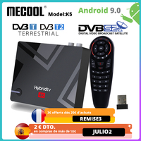 MECOOL TV Box DVB T/T2 K5 Smart Media Receiver Android 9,0 Amlogic S905X3 Dual WIFI LAN 10/ 100M Bluetooth 4,1 2GB 16GB