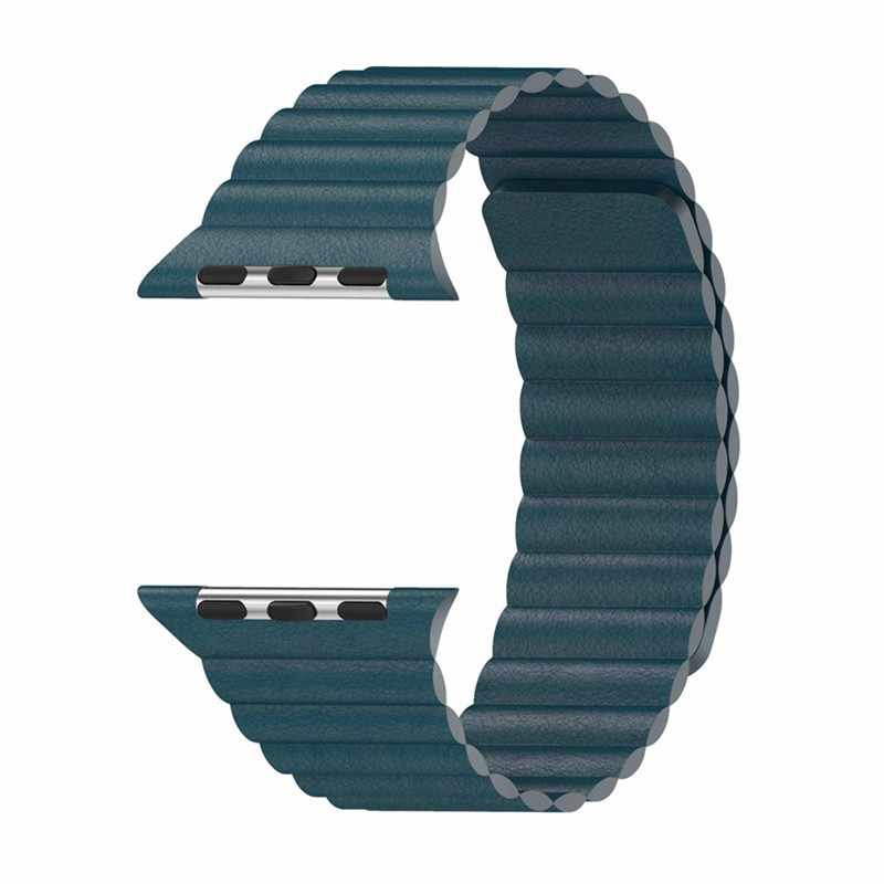 ストラップため apple watch 5 バンド 44 ミリメートル 40 ミリメートルレザーループコレア iwatch バンド 42 ミリメートル 38 ミリメートルブレスレット腕時計バンド applewatch 4 3 アクセサリー