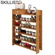 Cabinet Minimalist Rak Sepatu Meuble Chaussure Closet Retro Zapatero Organizador De Zapato Furniture Home Organizer Shoe Storage