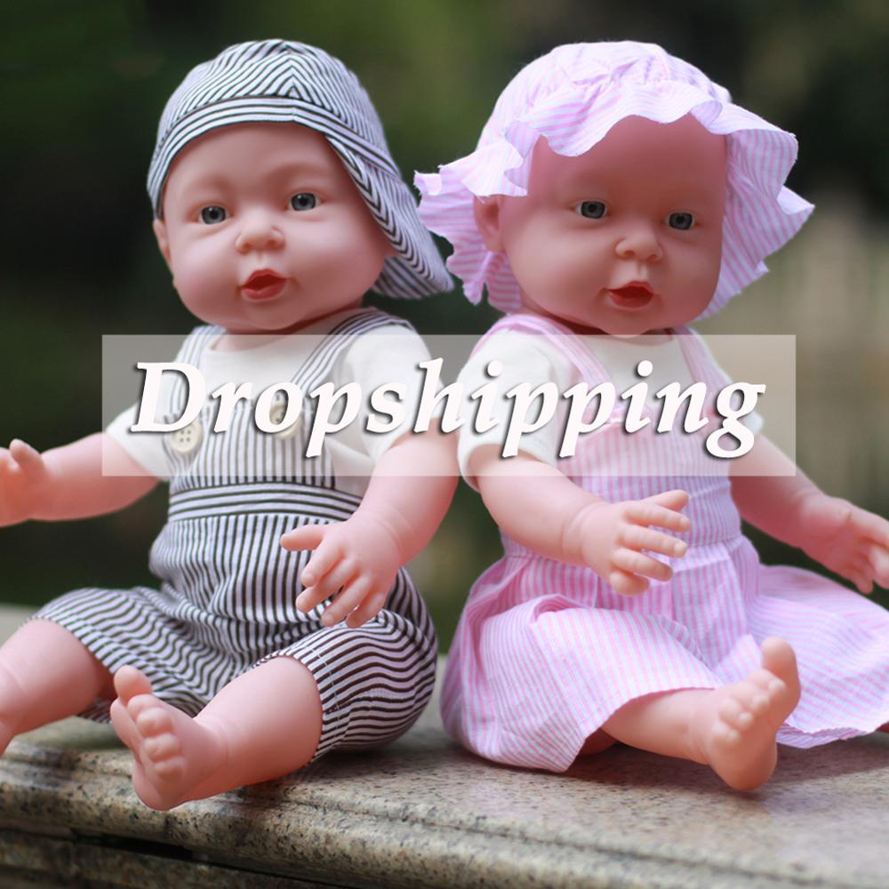41/50cm Vinyl Reborn Baby Doll Newborn Baby Simulation Doll Soft Children Kindergarten Lifelike Playmate Model Toy With Clothes