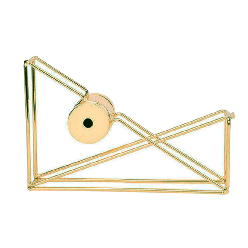 1 Pc Nordic Style Gold Tape Cutter Metal Tape Holder Storage Organizer Stationery Office Supplies Creative Decorative