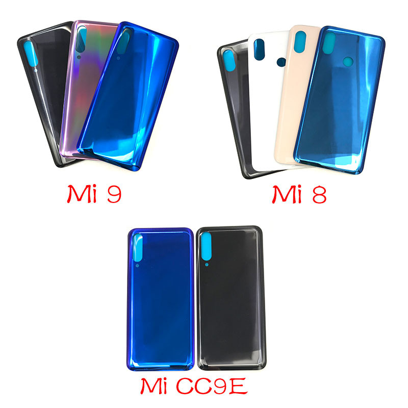 New For <font><b>Xiaomi</b></font> <font><b>Mi</b></font> <font><b>8</b></font> 9 9T CC9 CC9e <font><b>Battery</b></font> Back <font><b>Cover</b></font> Glass Rear Door Replacement Housing Sticker Adhesive For <font><b>Mi</b></font> A3 image