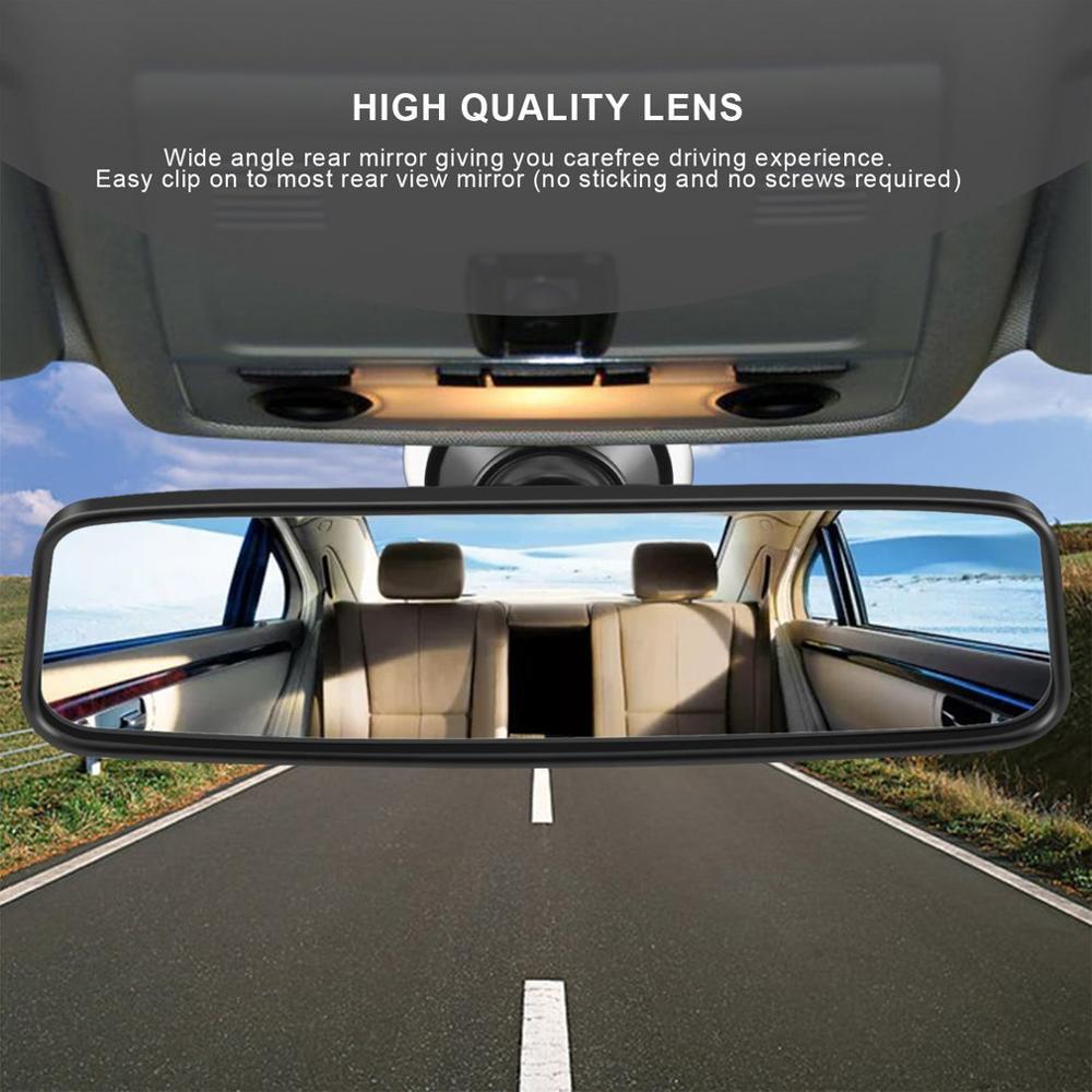 Универсальное автомобильное зеркало заднего вида, широкоугольное зеркало заднего вида, автомобильное внутреннее зеркало заднего вида с присоской из ПВХ