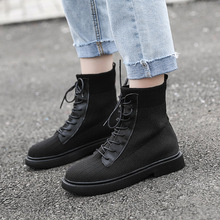 New Women Leather Winter Boots Warm Fur Women Fashion Platform Shoes 2019 Casual Martin Boots Botas Mujer цена