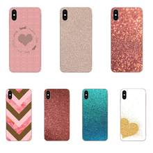 Rose Gold Glitter ประกาย Tpu กล่องสำหรับ LG K50 Q6 Q7 Q8 Q60 X Power 2 3 Nexus 5 5X V10 V20 V30 V40 Q Stylus(China)